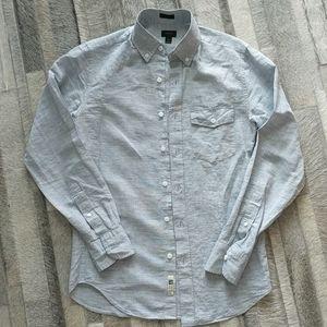 J. Crew XS blue linen shirt